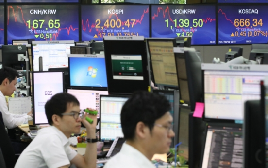 Foreign investors' net purchase tops W10tr in 1st half
