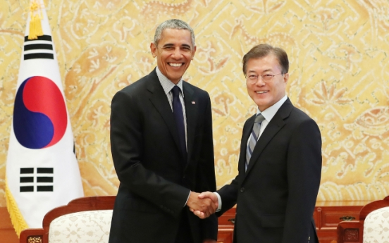 Moon meets Obama, says last chance for NK talks