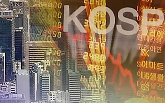 Korean stocks trade higher late Monday morning