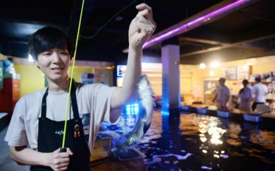 [Weekender] Fishing cafes hook young Koreans