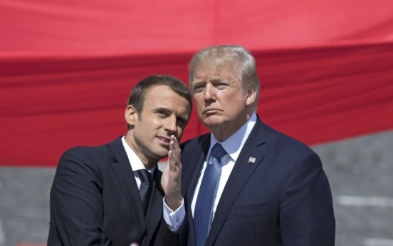 [Newsmaker] Trump, Macron bromance in bloom