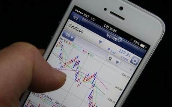 Stock trading via smartphones sees sharp rise