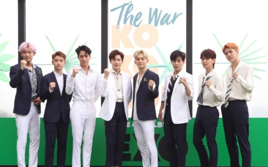 EXO aims to become quadruple million seller with 'The War'