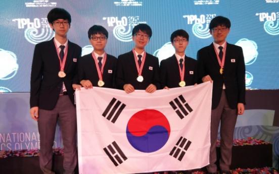 South Korean teens sweep math, physics Olympiads