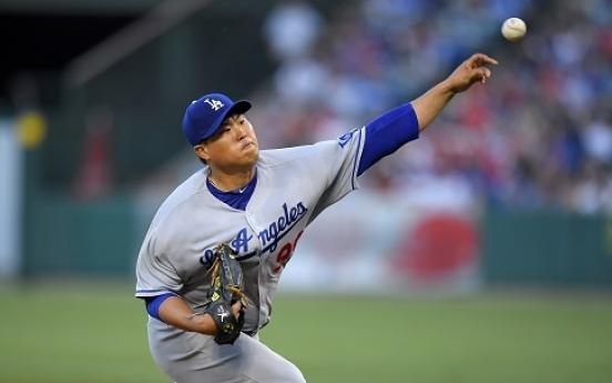 Ryu Hyun-jin throws 5 strong in return from injury