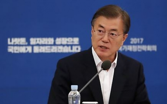 Moon's approval rating rises amid job creation push