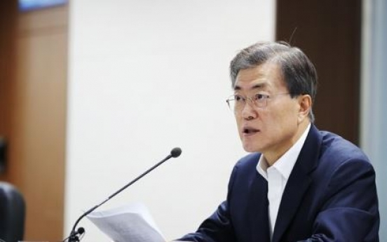 Moon received intel briefing on N. Korea's ICBM test 2 days before launch