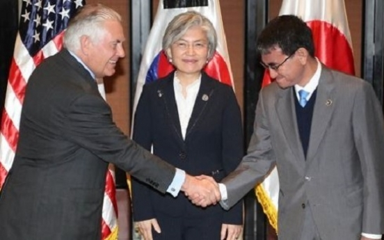 S. Korea, US, Japan vow to fully implement new NK sanctions