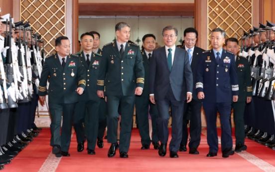 Moon Jae-in urges 'complete' overhaul of military