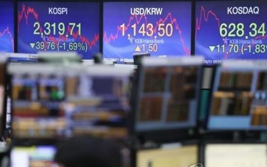 S. Korea's risk premium hits 18-month high on N. Korea woes