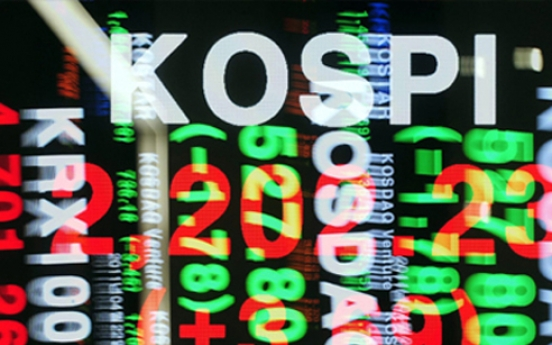 Korean shares down in late morning trading