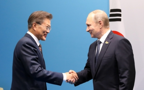 Moon to hold summit with Putin in Vladivostok next month