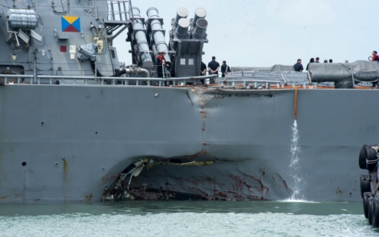 Remains found on US warship that collided off Singapore: US Navy