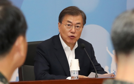 Moon calls for military capable for 'offensive action' against NK attack