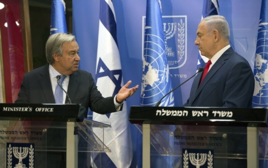 UN chief seeks 'dream' of Israel-Palestinian peace in first visit