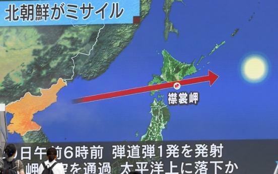 North Korea fires missile over Japan, dashing hopes for talks