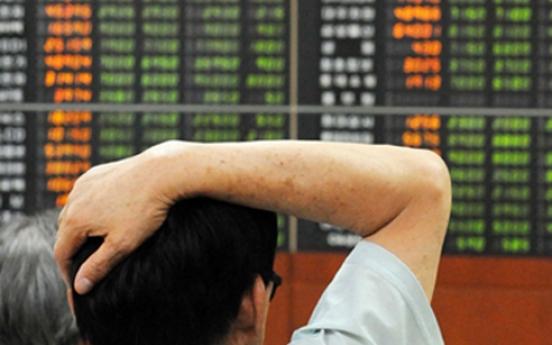 Korean stocks down late Thursday morning on foreign selling