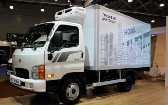 Hyundai unveils localized truck in Moscow