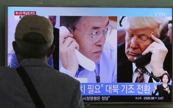 Time to consider cutting oil supplies to NK: Moon