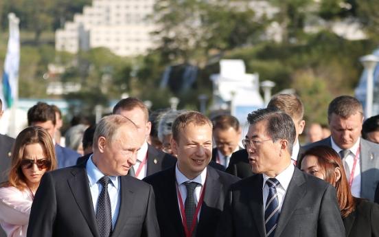 Putin, Moon condemn N. Korean test but far apart on sanctions