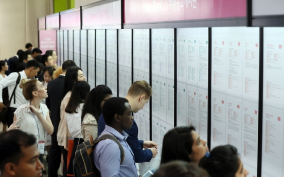 Job fair connects 2,500 intl. students to Korean firms