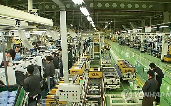Korea's major manufacturing industries falter