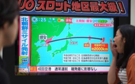 North Korea fires missile over Japan in longest-ever flight