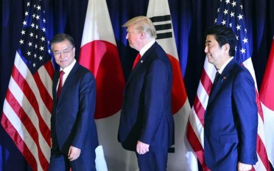 Leaders of Korea, US, Japan to hold trilateral summit next week
