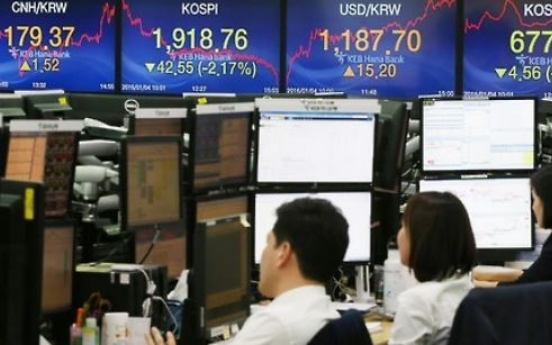 Seoul stocks up late Monday morning on Wall Street gains