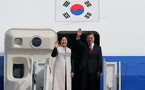 Moon heads to New York for UN assembly, summit with global leaders