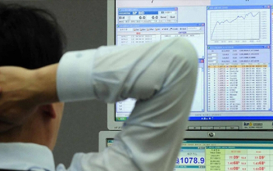 Seoul shares down late Wednesday morning