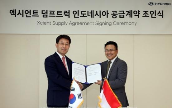 Hyundai to export 500 Xcient trucks to Indonesia