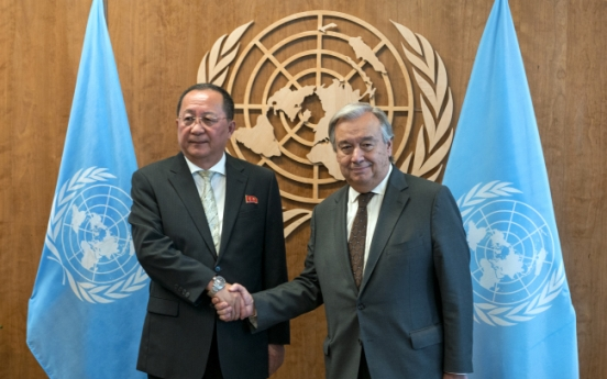 UN chief calls for diplomatic solution in meeting with N. Korean top diplomat