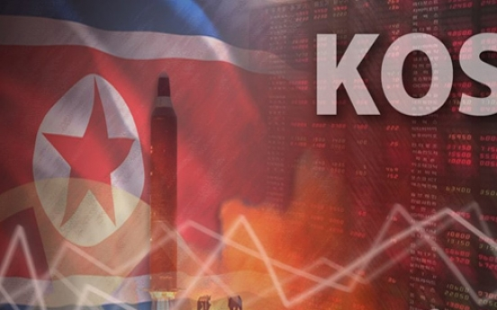S. Korean shares open lower amid escalating tensions over N. Korea