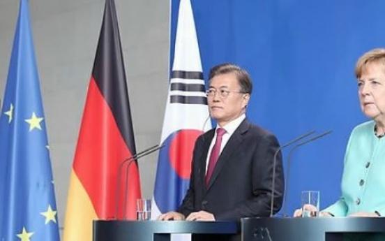 Korean president congratulates German chancellor on election outcome