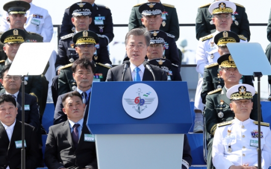 Moon says wartime operational control key to stronger military