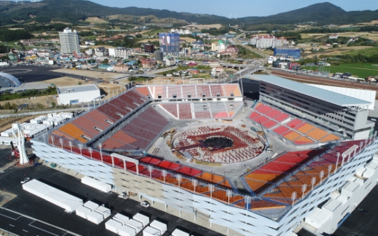 South Korea nears completion of stadium for Olympic ceremonies