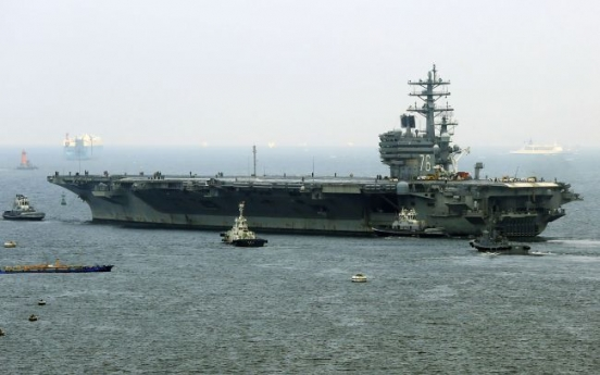 US aircraft carrier expected in Korea for joint exercise this month