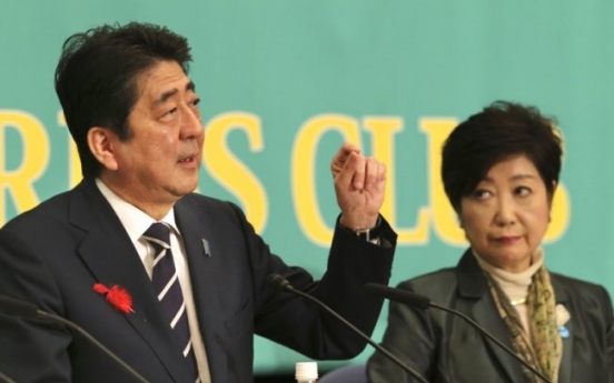 Abe says Japan fully behind US on pressuring North Korea