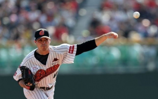 Lotte Giants blank NC Dinos to even baseball postseason series
