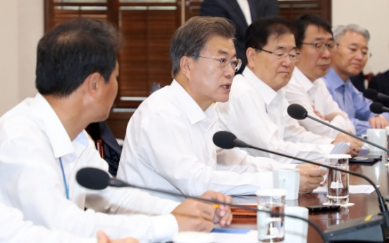 Moon urges speedy reform, income-led growth model