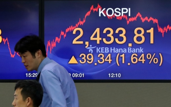 Foreign buying on Kospi largest in over 4 years