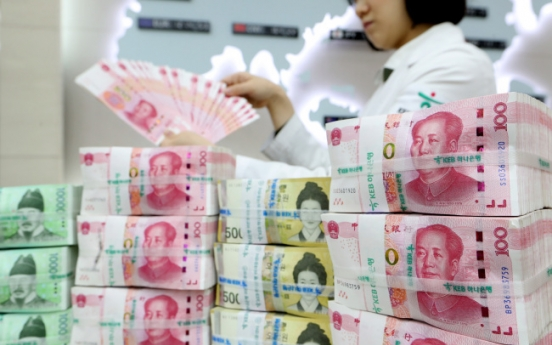 Korea, China renew currency swap deal worth W64tr