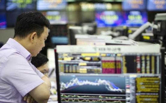 Korean stocks down late Wednesday morning