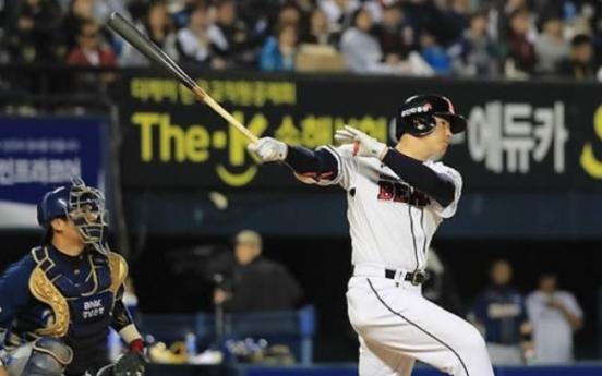 Doosan Bears win slugfest to even baseball postseason series