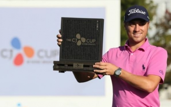 Justin Thomas wins first PGA Tour event in Korea in playoff