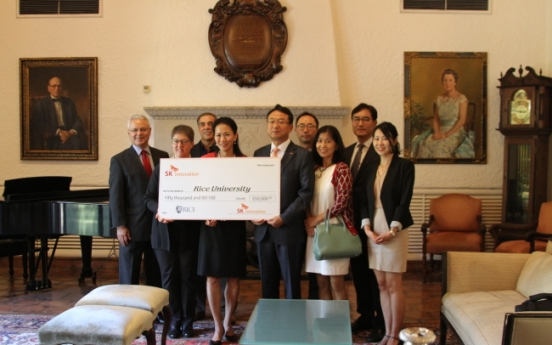 SK Innovation donates  $50,000 to Rice University in US