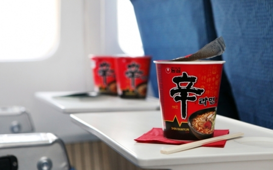 Nongshim to double ramen supplies to foreign carriers by 2020