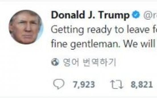 Trump calls Moon 'fine gentleman,' says 'ready' for meeting