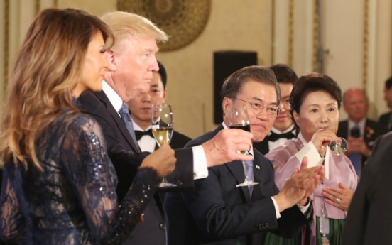 Korean beef, ballad song and chopstick gift set for Trump in state dinner